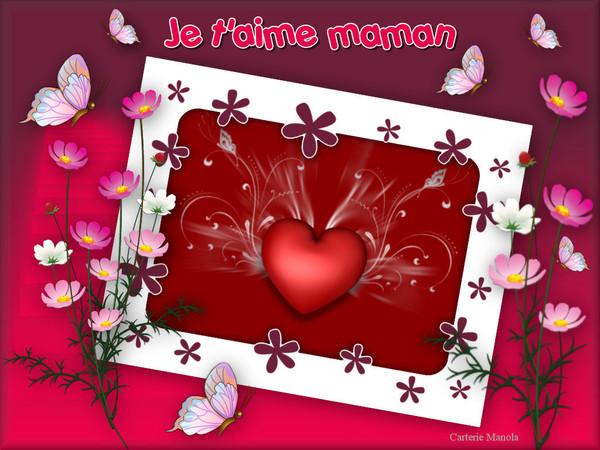 """magnifique carte pour dire """"je t'Aime maman"""""""