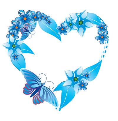 Coeur bleu avec colombe centerblog - Images avec des coeurs ...
