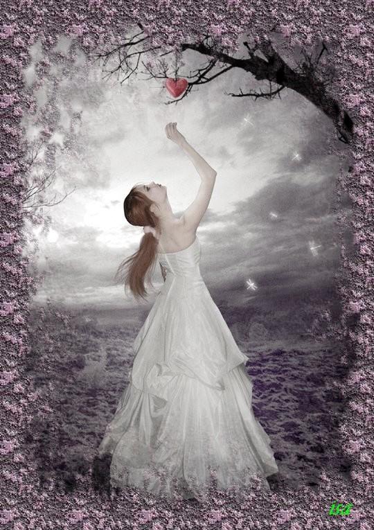 femme et coeur, jolie création d'Isabelle