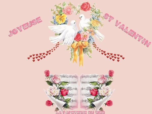 Saint Valentin dans un belle image avec coeur