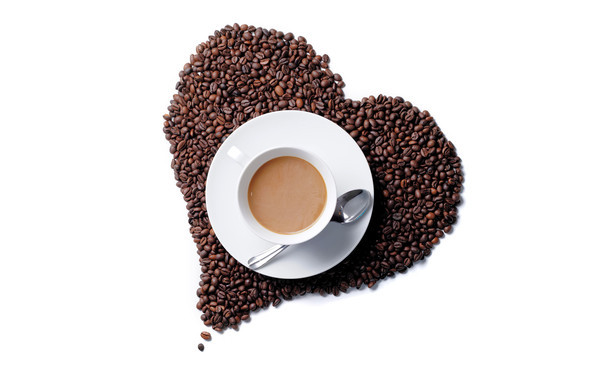 Café et coeur , un joli mélange de douceur et de force