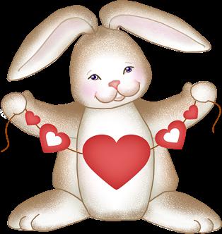 Lapins avec sa guirlande de coeurs centerblog - Images avec des coeurs ...