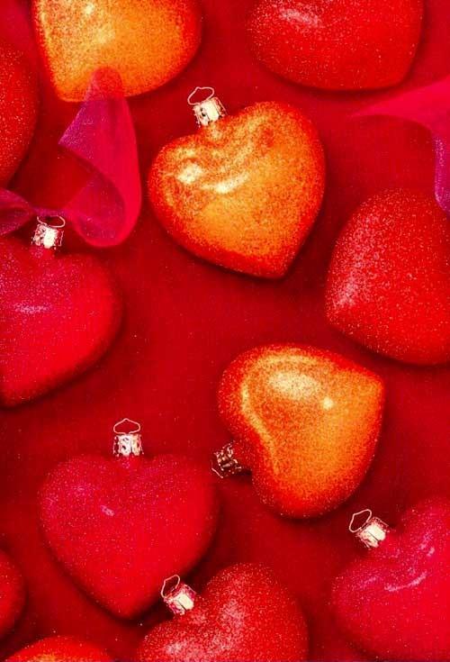 Boules de noel coeur rouge centerblog - Boule de noel rouge ...