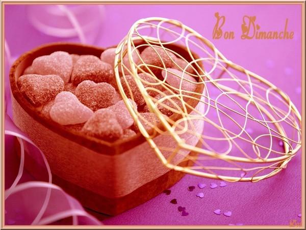 BON DIMAMCHE. avec un joli coeur gourmand