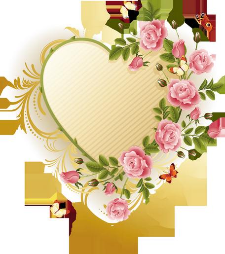 Superbe coeur avec jolies fleurs
