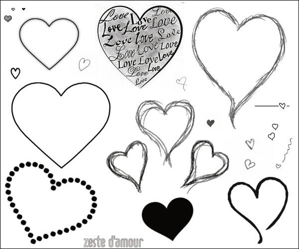 Image Coeur Noir Et Blanc image de plusieurs coeurs en noir et blanc - centerblog