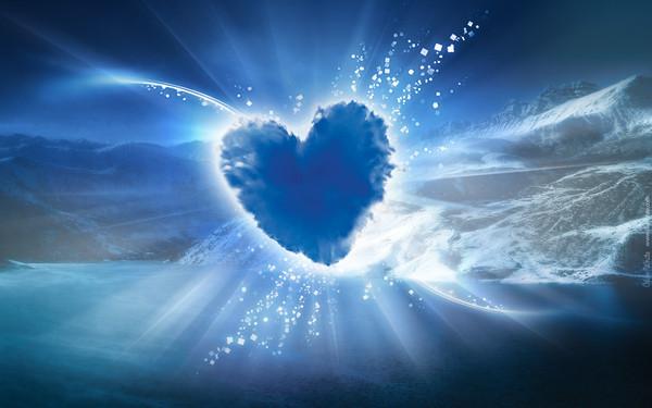 joli coeur bleu pour un fond d 39 ecran coeur bleu. Black Bedroom Furniture Sets. Home Design Ideas