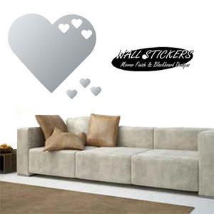 sticker miroir coeur geant centerblog. Black Bedroom Furniture Sets. Home Design Ideas