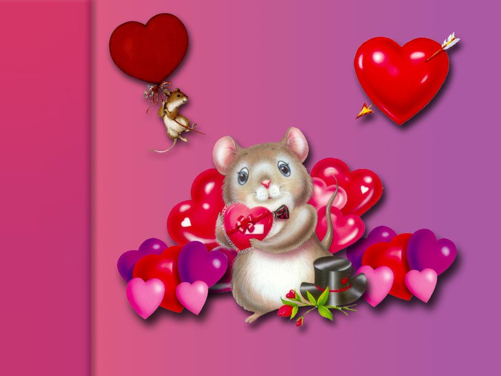 Fond D Ecran Souris Et Coeur