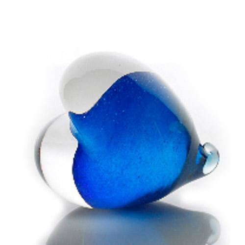 COEUR bleu et transparent