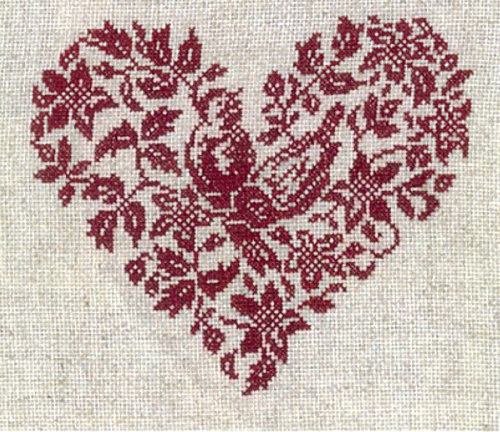 corazones y amor_16. Corazones de punto de cruz
