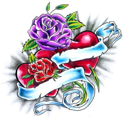 Rose Tatto on Tatouage  Coeur Et Rose