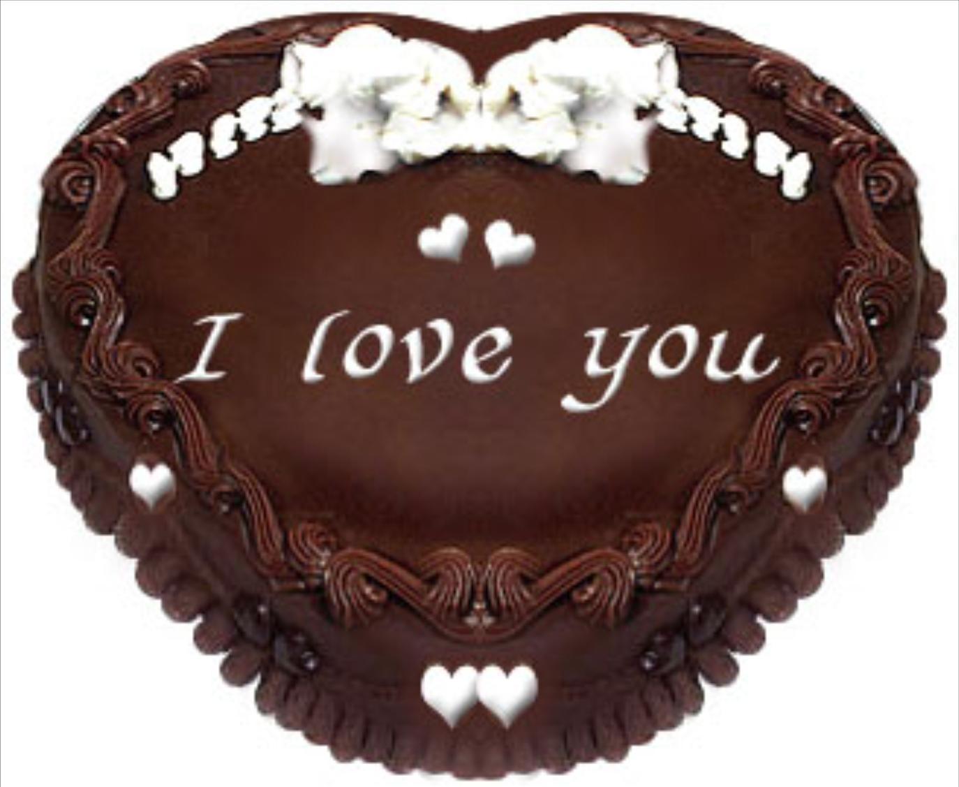 Superbe Gâteau Coeur Au Chocolat I Love You