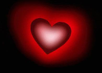 Coeur Rouge Sur Fond Noir